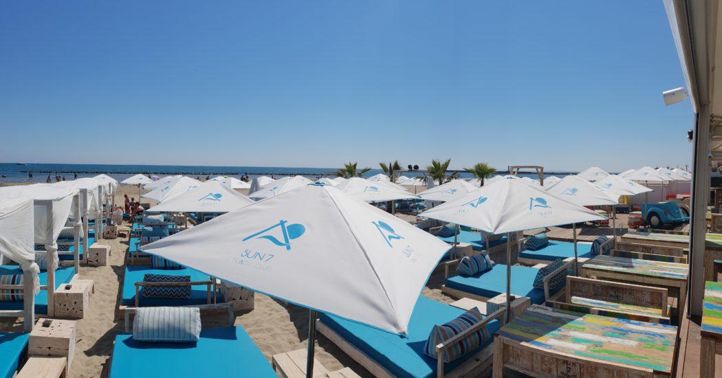 plage privée - grau d'agde - sun 7 beach